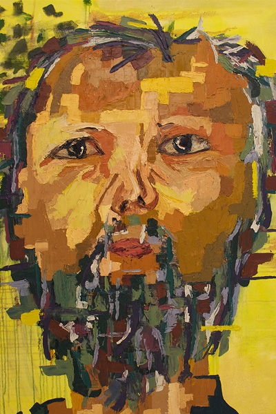 Interpretation of Man 2. 24x36 inches, oil on canvas. 2010